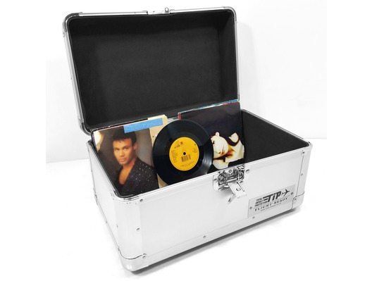 "Total Impact TIP 200 7"" Vinyl Record Carry Case Silver"