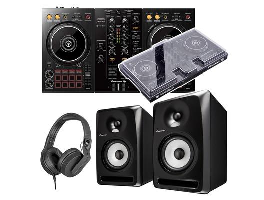 Pioneer Dj DDJ-400 + S-DJ50X with Decksaver & Headphones