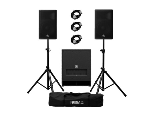 Yamaha DXR12 mkII (Pair) & DXS12 mkII with Stands and Cables