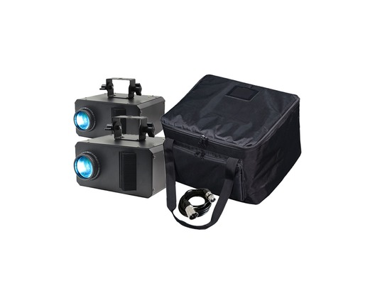 Equinox Axis 50W Gobo Flower (Pair) with Cable + Free Bag