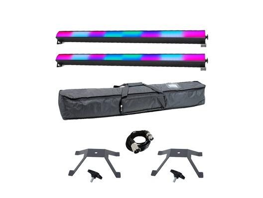 Equinox SpectraPix Batten x2 with Bag, Brackets & Cable