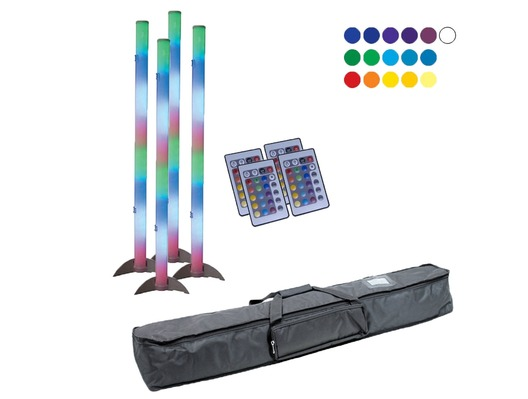 American DJ LED Color Tube 2 x4 with Carry Bag