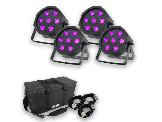 Equinox MaxiPar Quad (x4) with Carry Bag + Cables