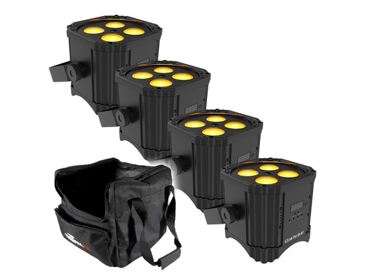 Chauvet EZLink Par Q4 BT (x4) with Chauvet CHS-40 Bag