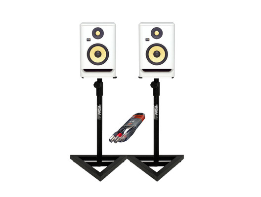 KRK RP5 G4 WN + Studio Stands + Cable