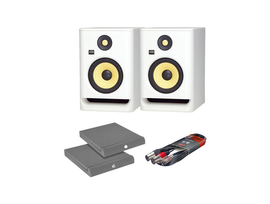 KRK RP7 G4 White Noise w/ Isolation Pads + Cable