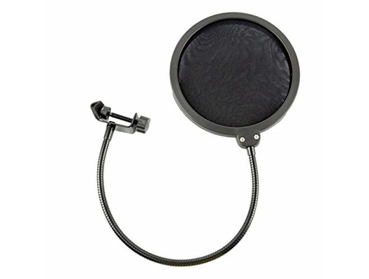 SoundLAB Pop Shield with Adjustable Clip Black
