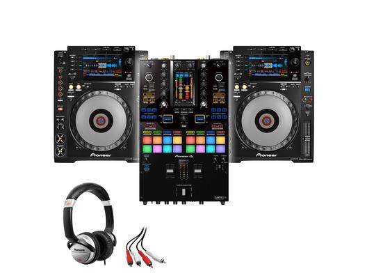 Pioneer CDJ-900NXS (x2) + DJM-S11 with Headphones + Cable