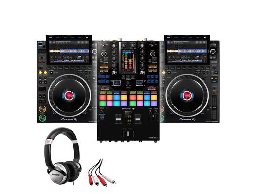 Pioneer CDJ-3000 (x2) +DJM-S11 with Headphones + Cable