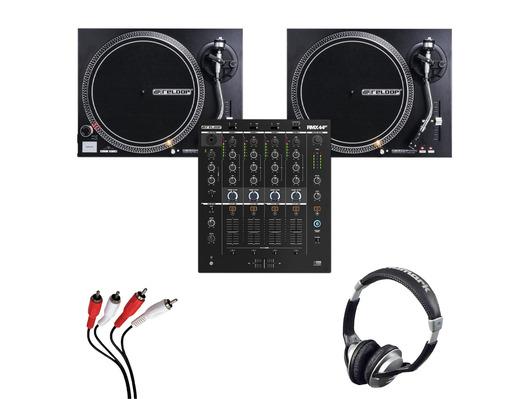 Reloop RMX-44 BT + RP-4000 MK2 (Pair) with Headphones + Cable