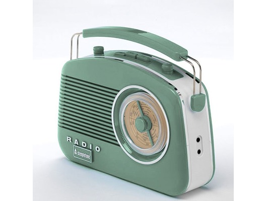 Steepletone 50's Style Brighton Radio Green