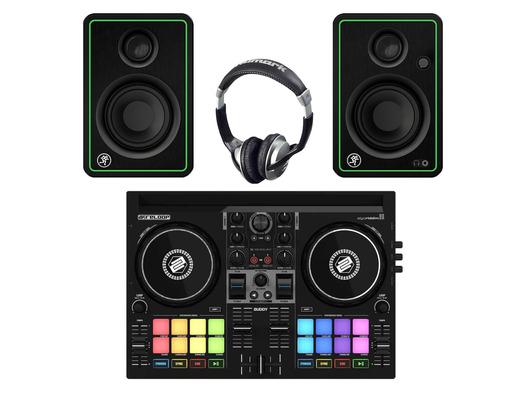 Reloop Buddy + Mackie CR3-X with Headphones