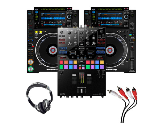 Pioneer CDJ-2000 NXS2 (Pair) + DJM-S9 with Headphones + Cable