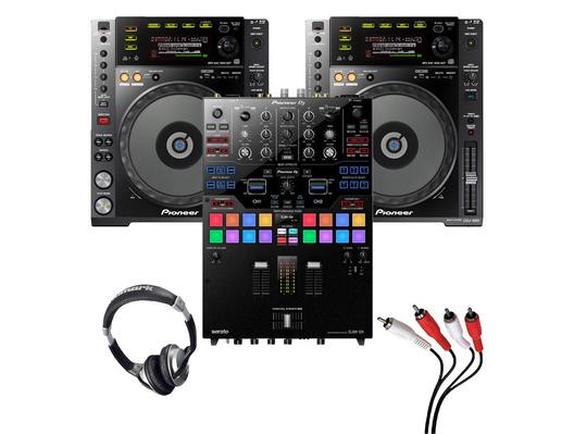 Pioneer CDJ-850 (Pair) + DJM-S9 with Headphones + Cable