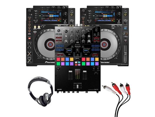 Pioneer CDJ-900 Nexus (Pair) + DJM-S9 with Headphones + Cable