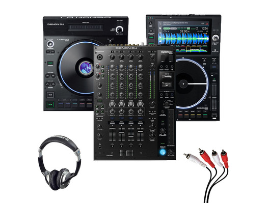 Denon LC6000 + SC6000M + X1850 with Headphones + Cable