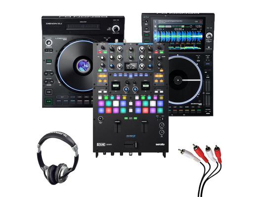 Denon LC6000 + SC6000M + RANE Seventy with Headphones + Cable