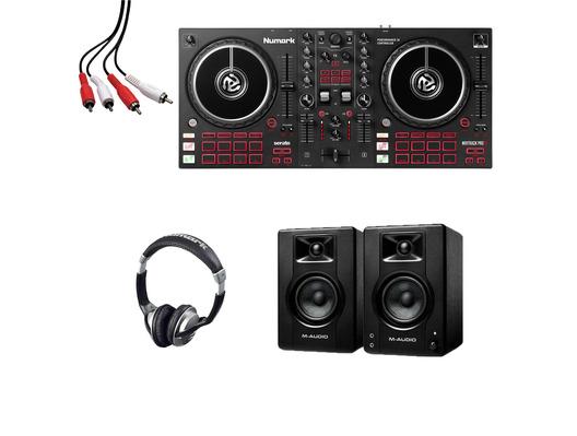 Numark Mixtrack Pro FX + M-Audio BX3 (Pair) with Headphones + Cable