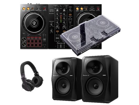 Pioneer DJ DDJ-400 + VM-50 with Decksaver & Headphones