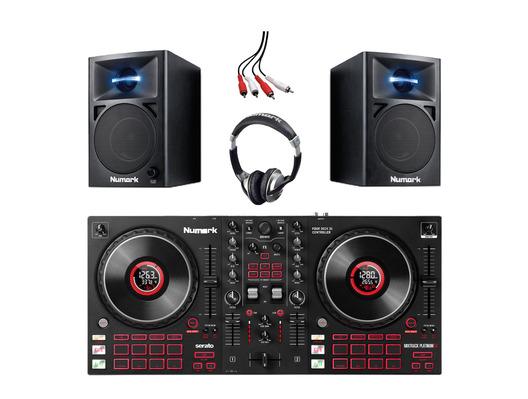 Numark Mixtrack Platinum FX with N-Wave 360 Monitors & Headphones