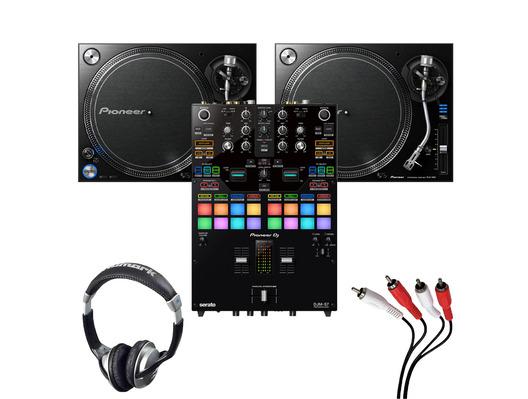 Pioneer PLX-1000 (Pair) + DJM-S7 with Headphones + Cable