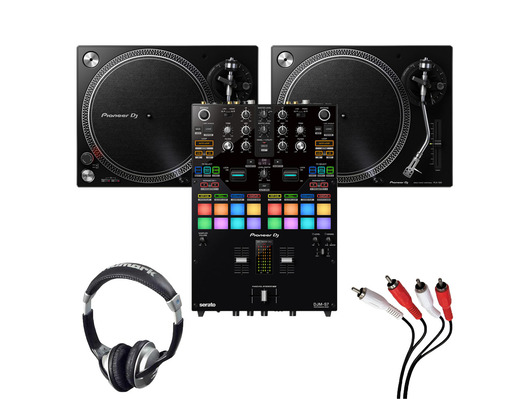 Pioneer PLX-500 (Pair) + DJM-S7 with Headphones + Cable