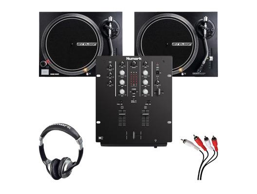 Reloop RP-2000 MKII Turntables & Numark M2 Black Mixer Package