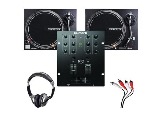 Reloop RP-4000 MK2 Turntables & Numark M101 USB Black Mixer