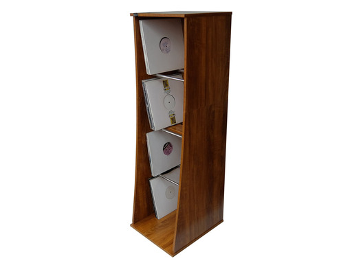 Sefour Vinyl Storage Tower Mid Century Synth Rosewood