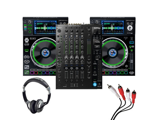 Denon X1850 + SC5000 (Pair) with Headphones + Cable